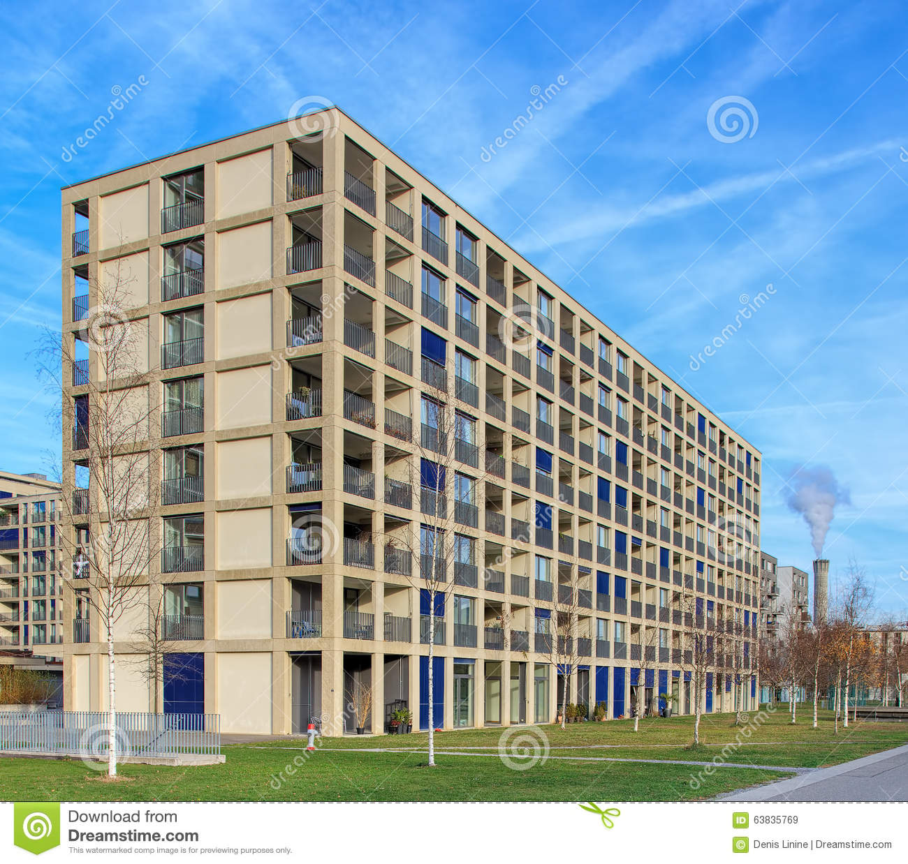 City Apartment Building Apartment Building In Zurich Oerlikon Editorial Stock Image