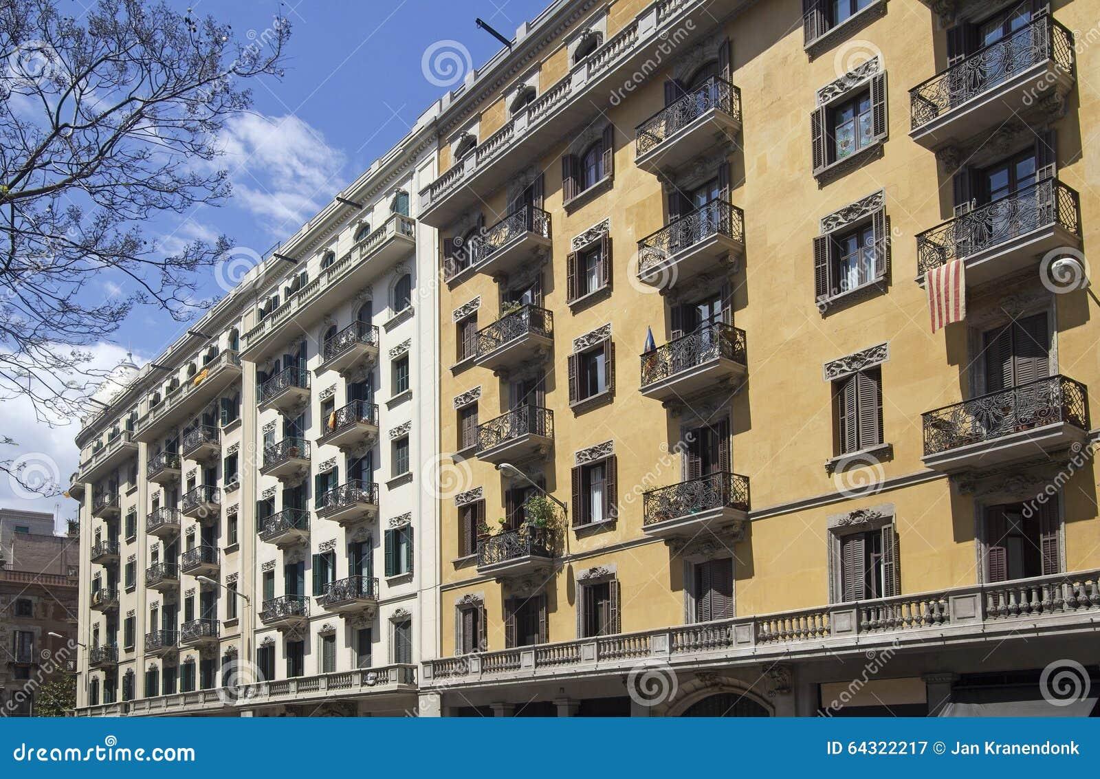 Apartment Buildings In Barcelona, Spain Stock Image ...