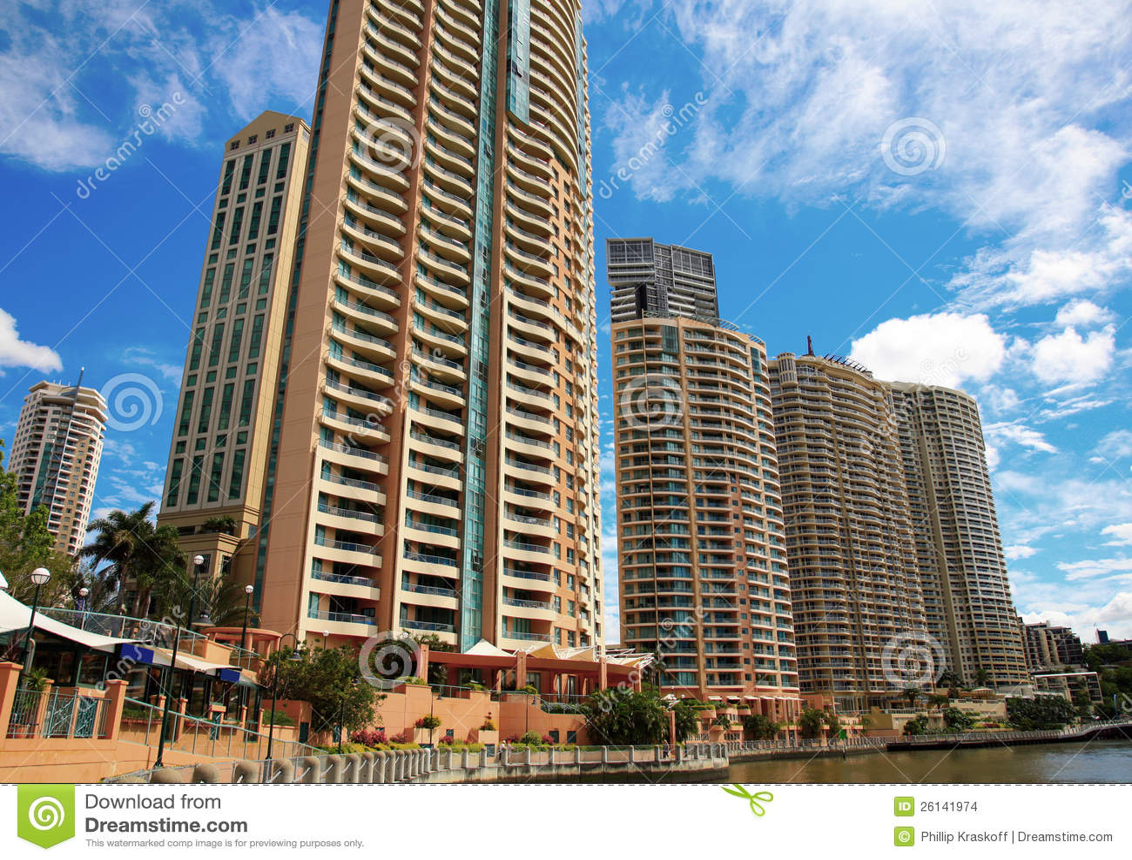 Apartment Buildings, Brisbane, Australia Stock Photo ...