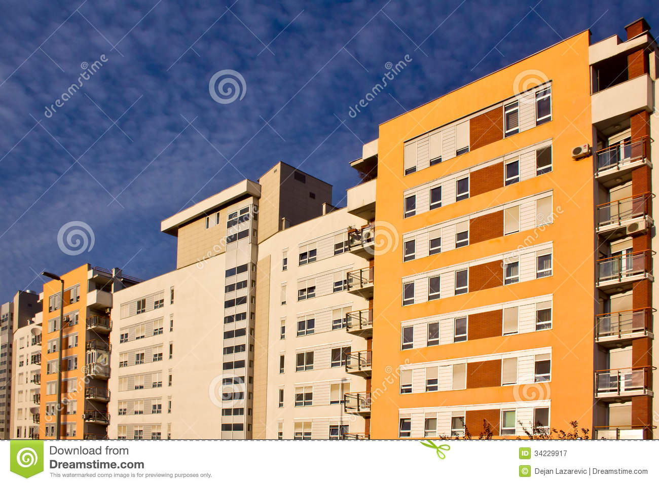 Apartment Buildings Royalty Free Stock Photography Image 34229917