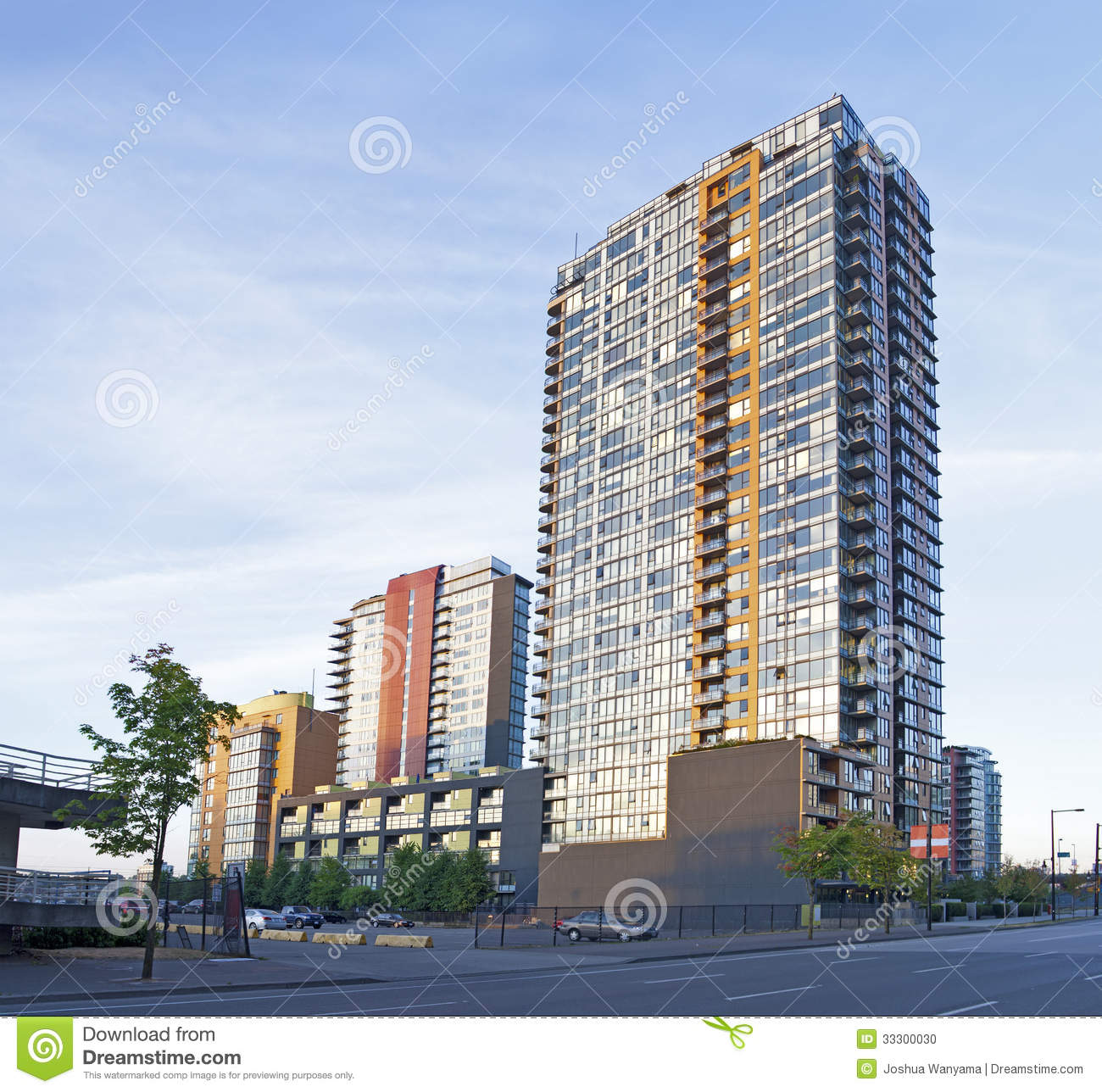 New Condos And Apartments Rise Up Around: Apartment Buildings Stock Photo. Image Of Colorful
