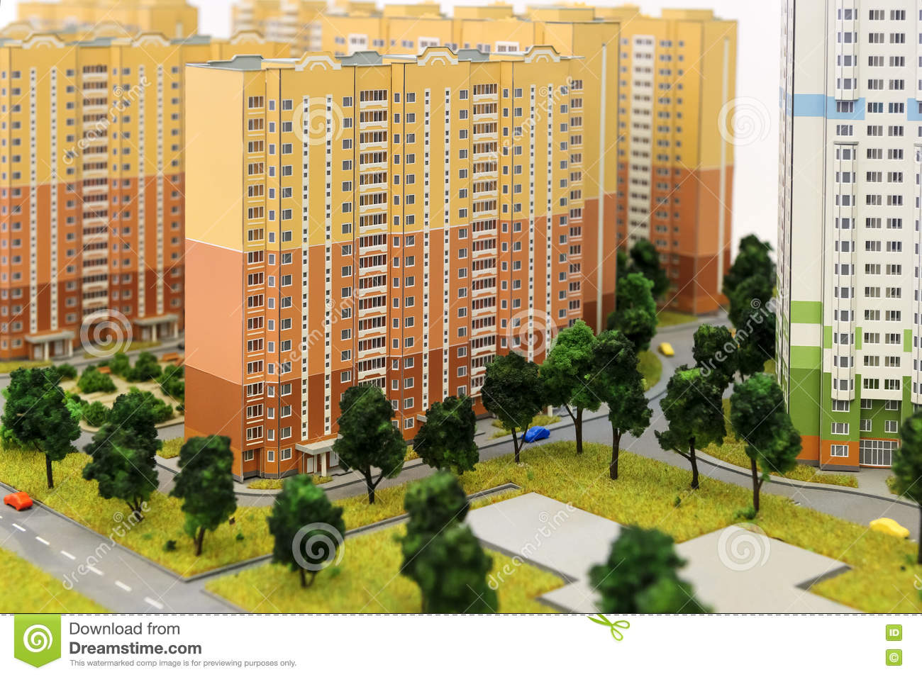 Apartment Buildings Layout Stock Photo Image