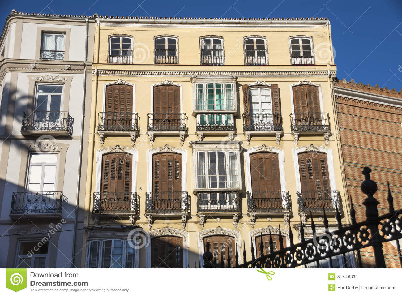 Apartment Buildings In Malaga Stock Photo - Image of homes ...