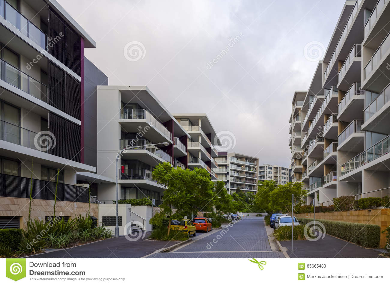 Apartment Buildings, Rhodes, Sydney, Australia Editorial ...