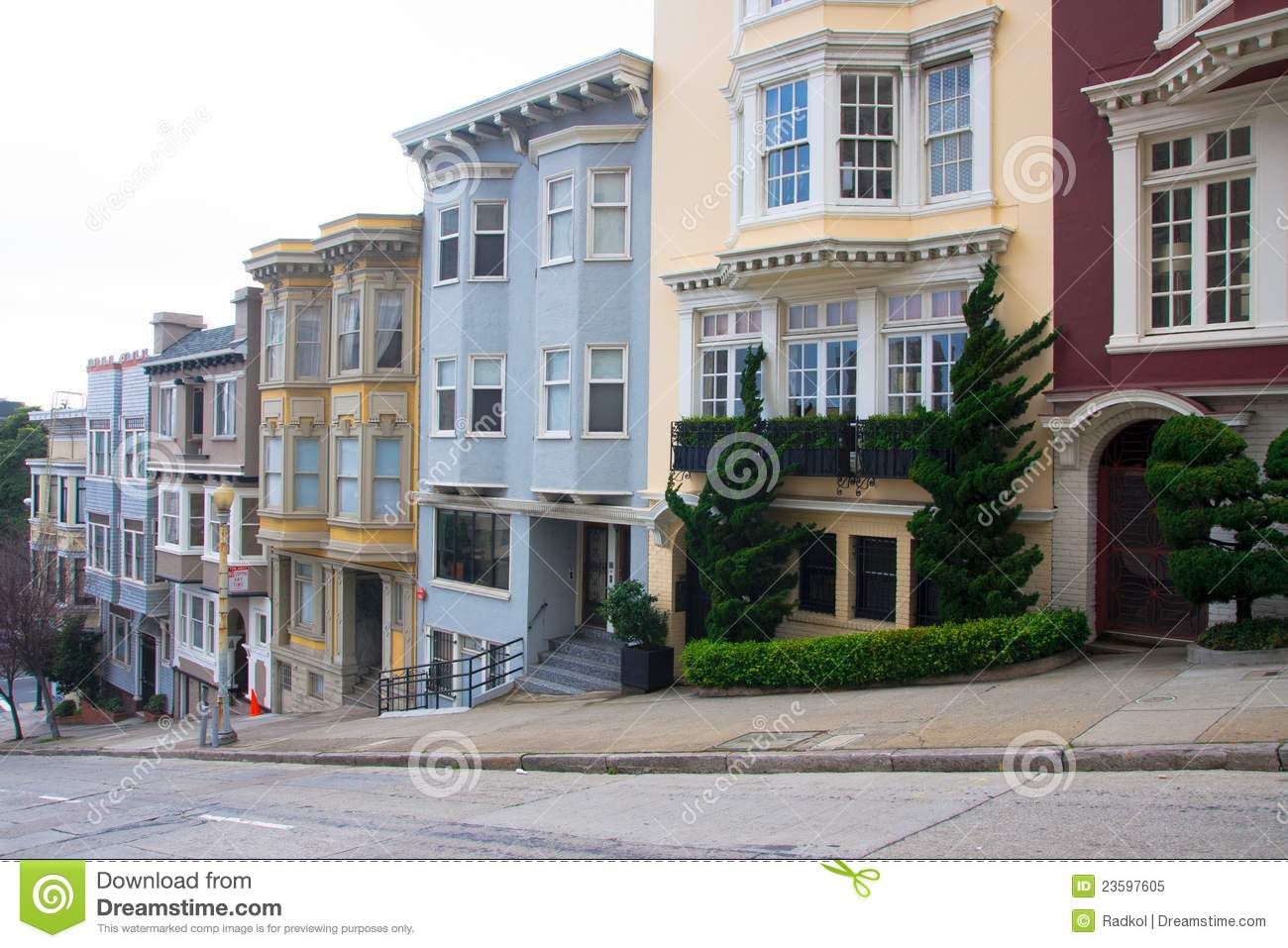 Apartment Buildings In San Francisco Stock Image - Image ...