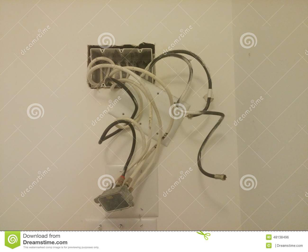 Apartment Cable Wiring Stock Photo Image Of Phone Extension
