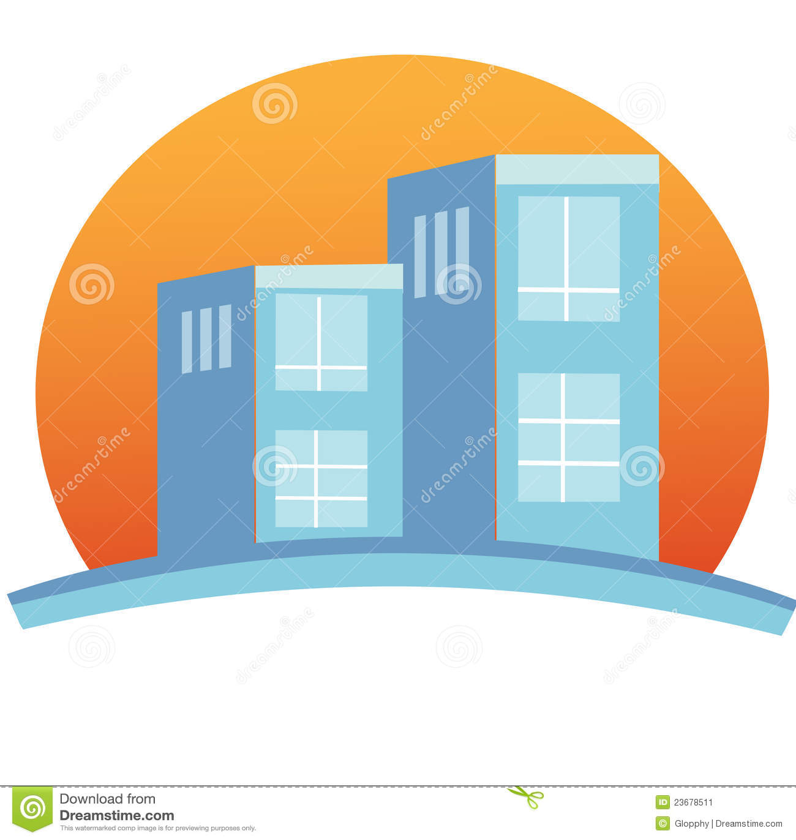 apartment complex building logo stock vector image 23678511