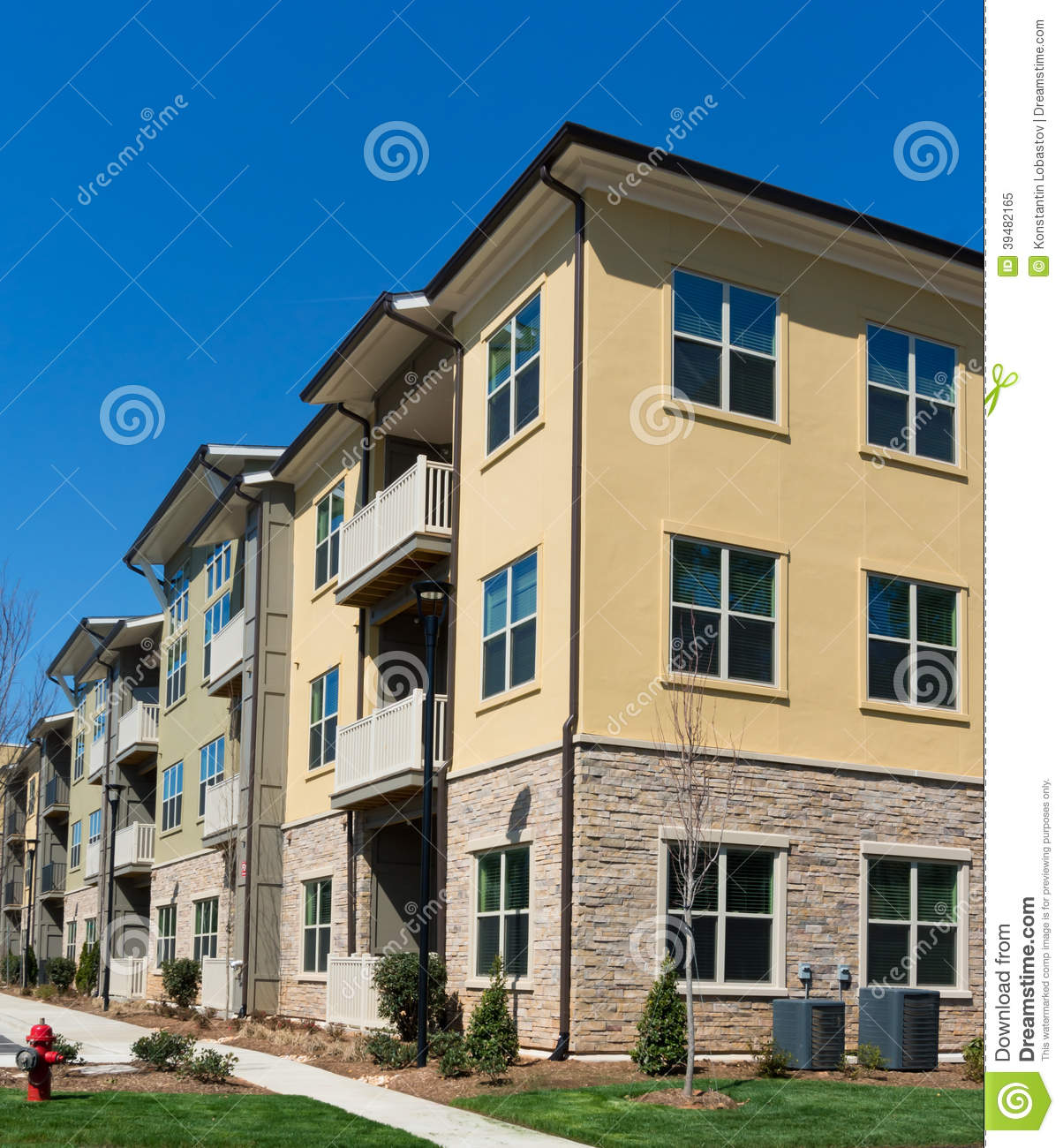 Apt Complex: Apartment Complex Exterior Details Stock Photo