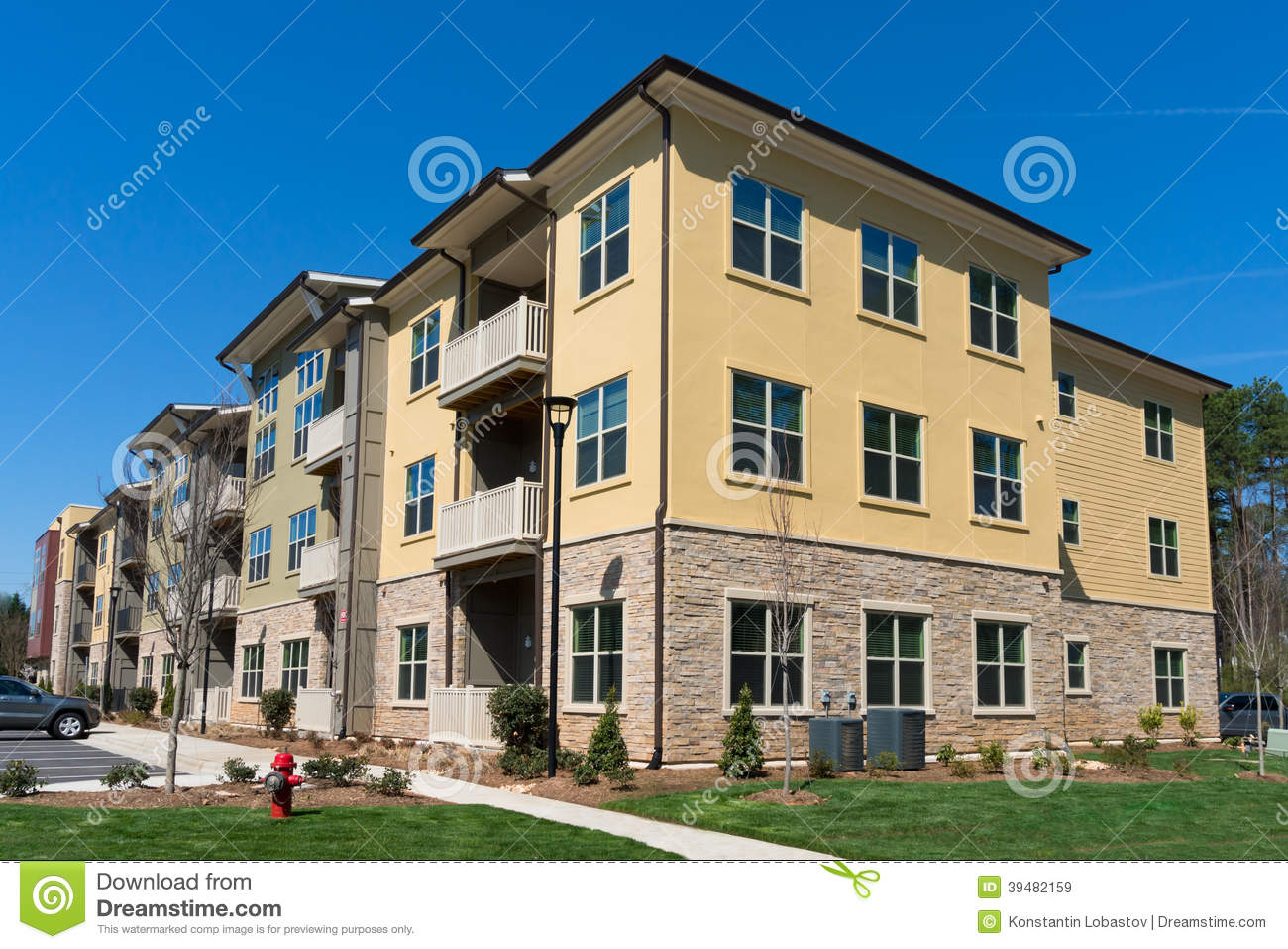 Apartment complex exterior stock photo image 39482159 for Residential lease for apartment or unit in multi family