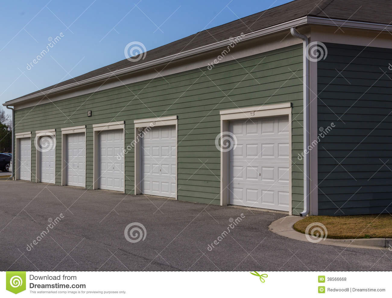 apartment complex garage units royalty free stock photos