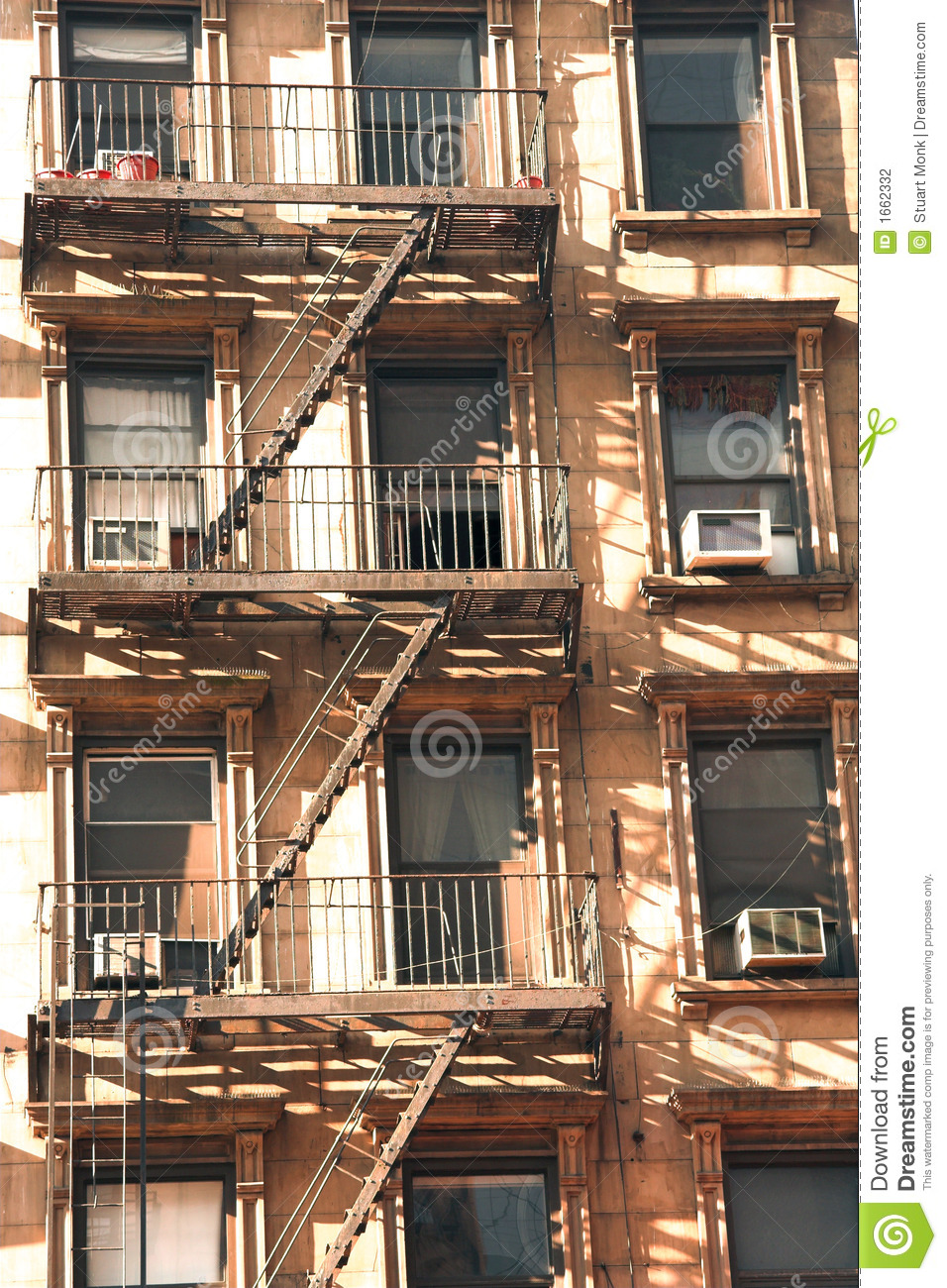 apartment fire escape stock photography image 1662332