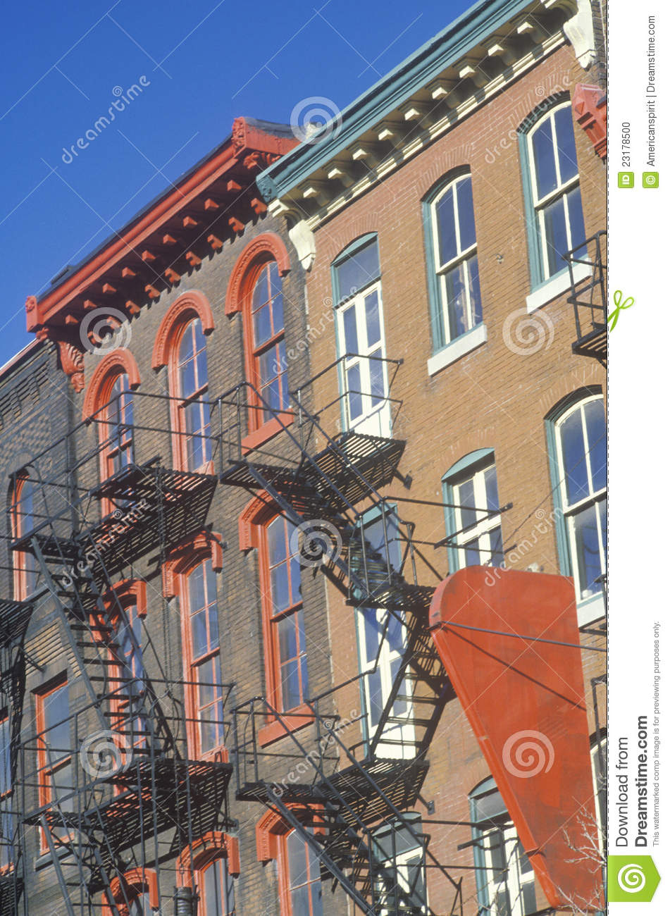 apartment fire escapes stock photo image 23178500