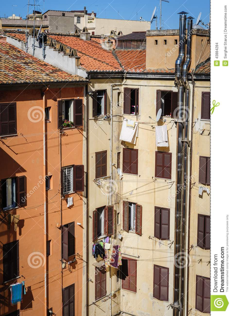 Apartment Homes In Rome, Italy Stock Photo - Image: 43884284