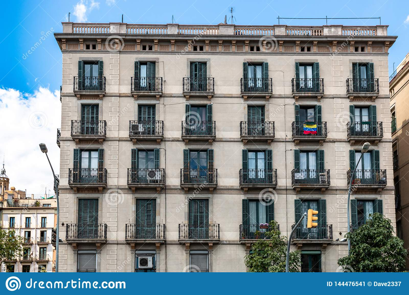 Apartment House In Barcelona, Spain Stock Image - Image of ...