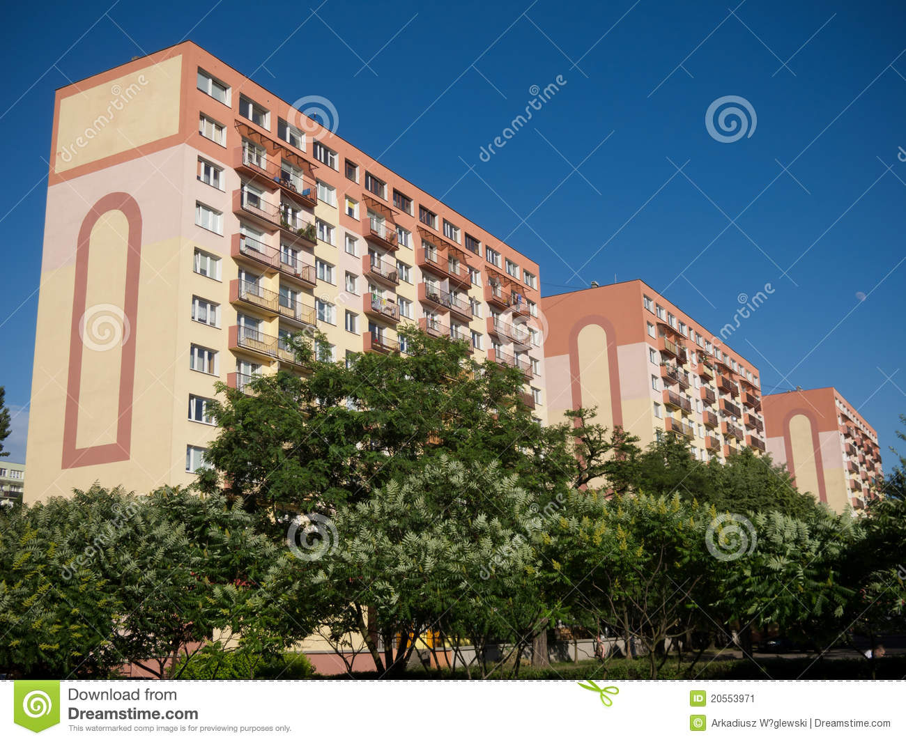 Apartment House In Lodz Poland Stock Image Image 20553971