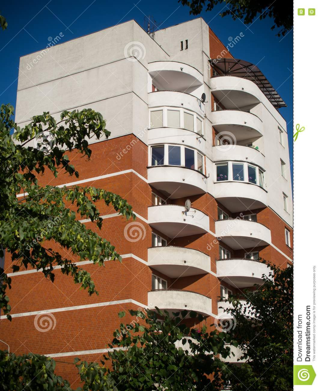 Apartment House In Lodz Poland Royalty Free Stock Images Image 20554019