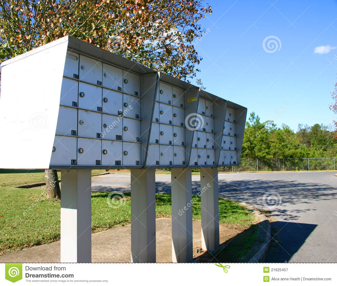 Apartment mailboxes stock image. Image of green, delivery - 21625457