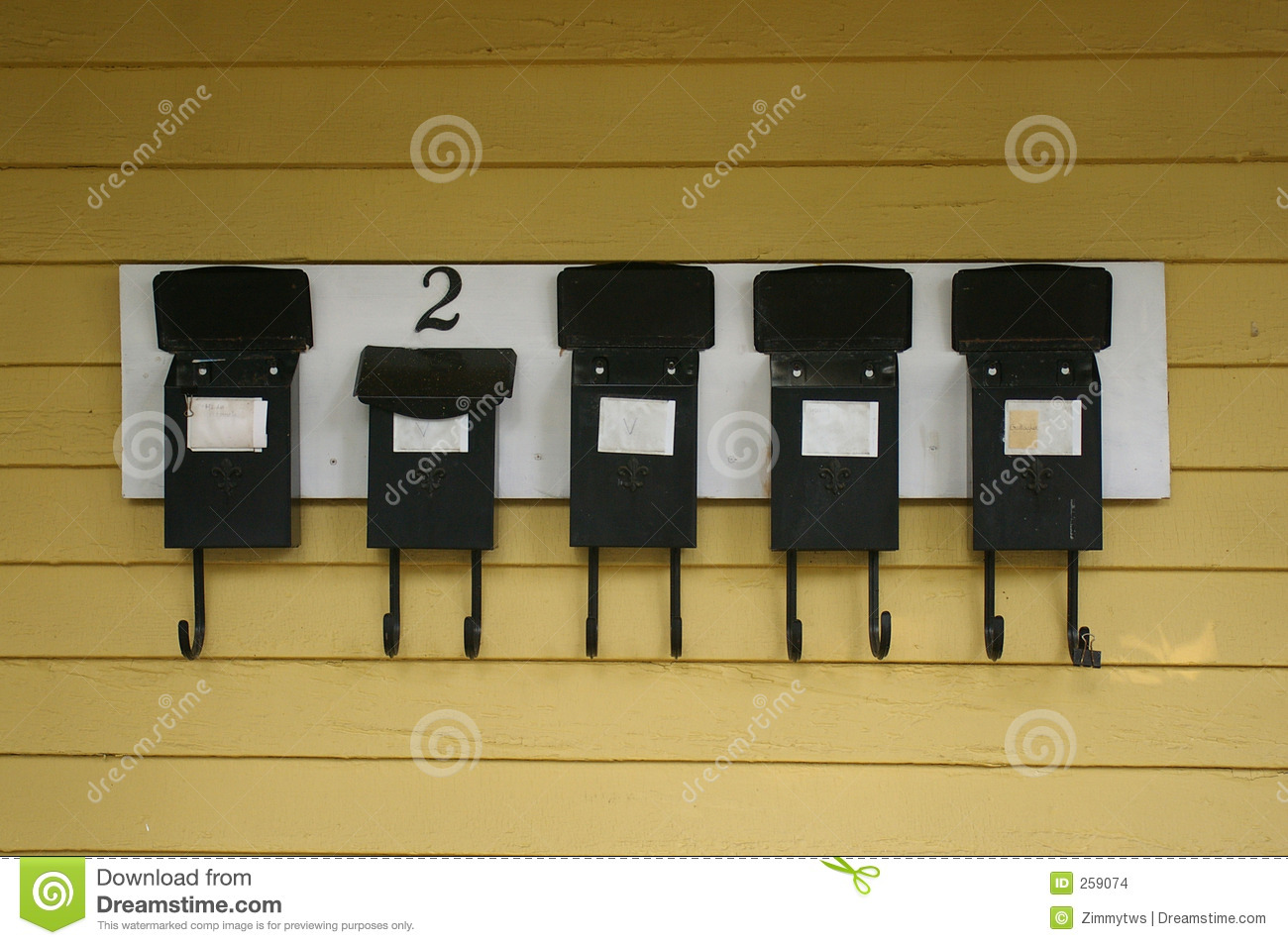 Apartment Mailboxes Stock Images - Image: 259074