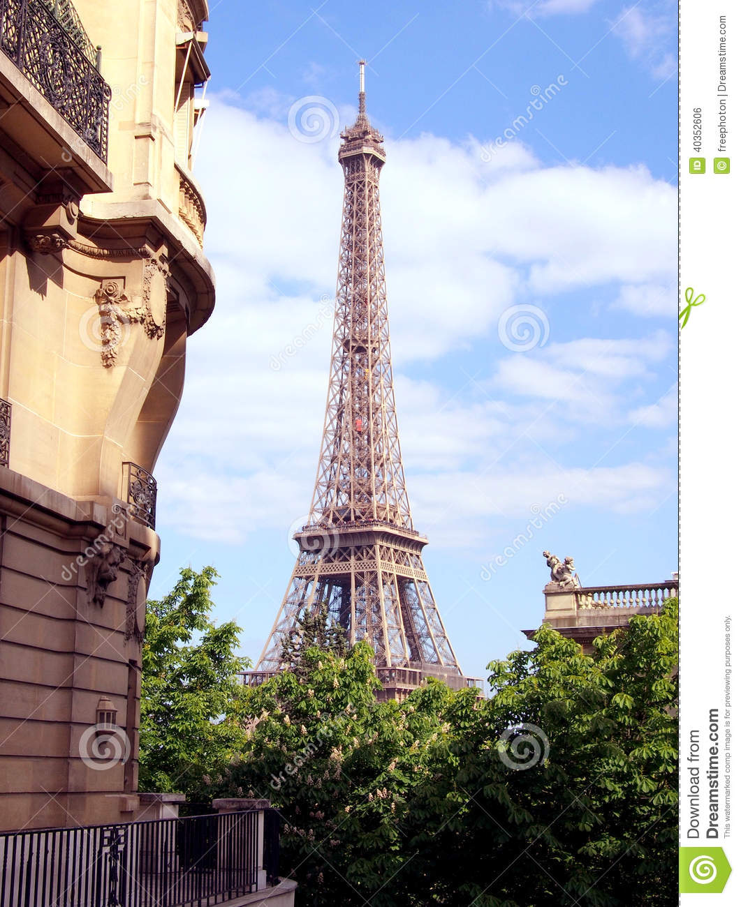 Apartment near eiffel tower paris stock photo image for Apartment in the eiffel tower