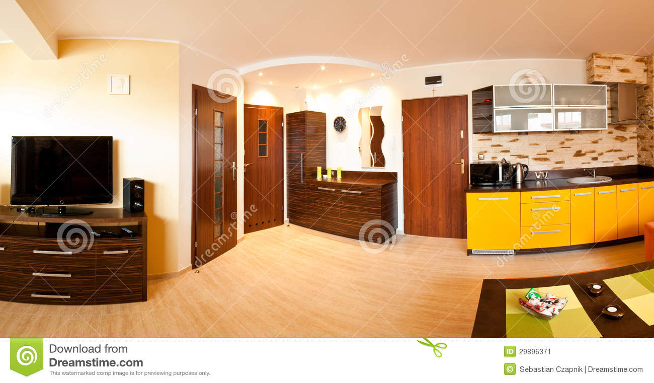 Apartment With Open Kitchen Stock Image Image 29896371