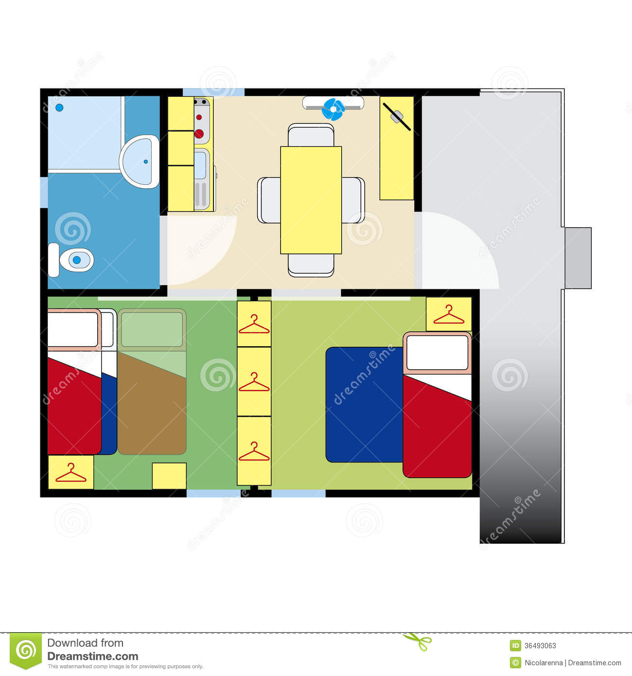Apartment plan stock photos image 36493063 for Apartment stock plans