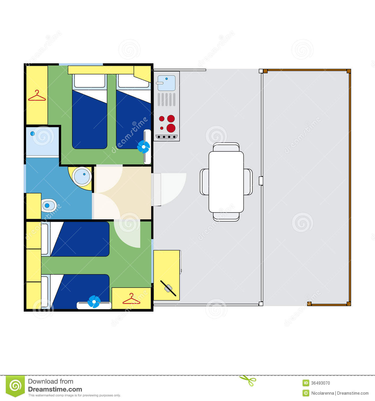 Apartment plan stock photo image 36493070 for Apartment stock plans