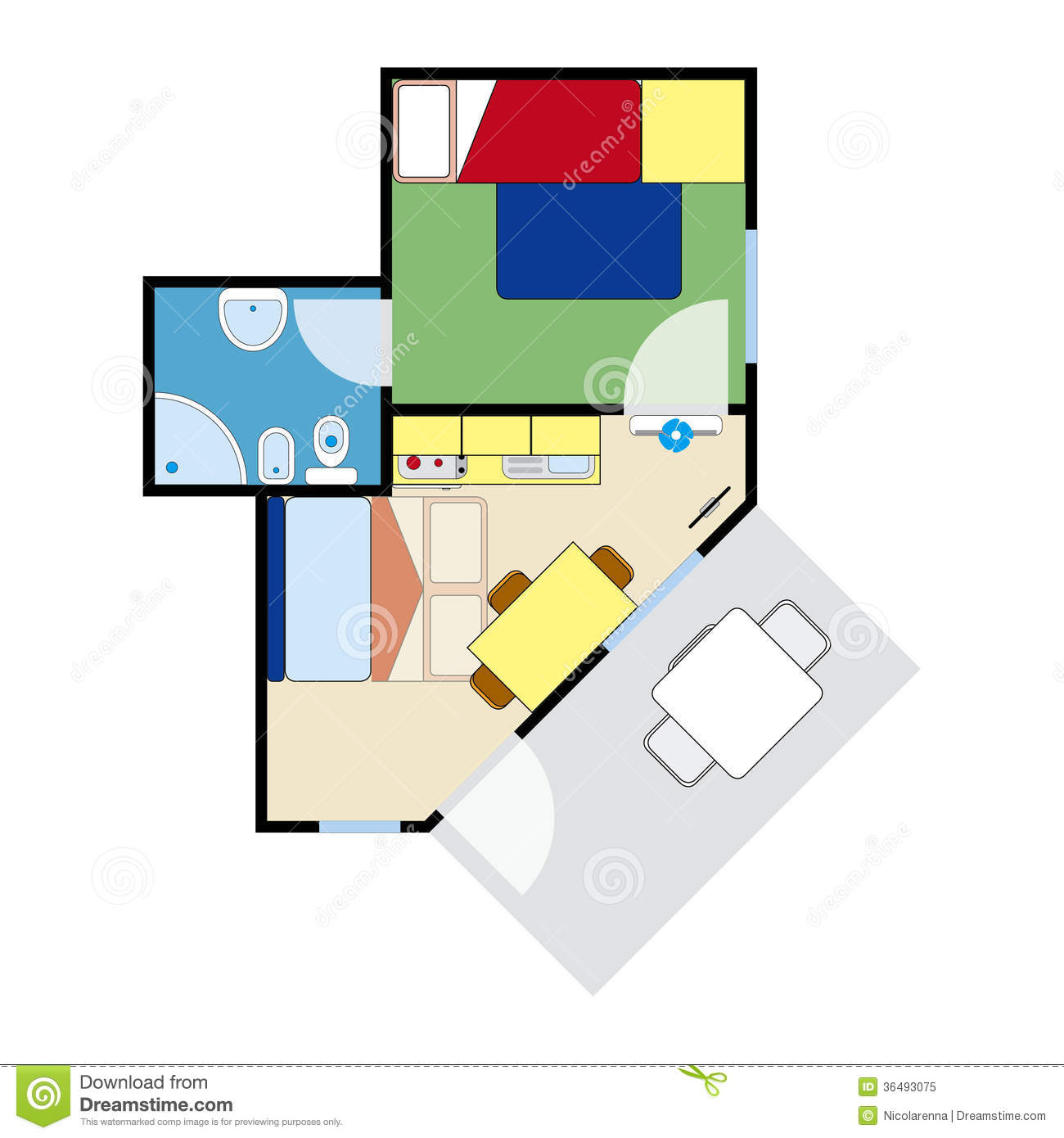 Apartment plan royalty free stock photo image 36493075 for Apartment stock plans
