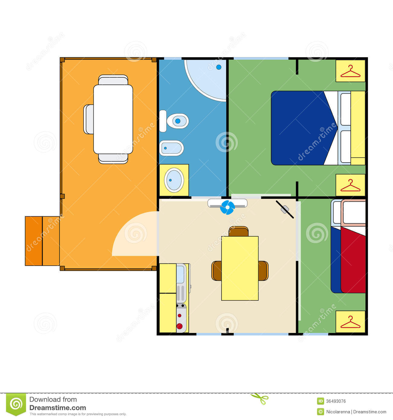 Apartment plan royalty free stock image image 36493076 for Apartment stock plans