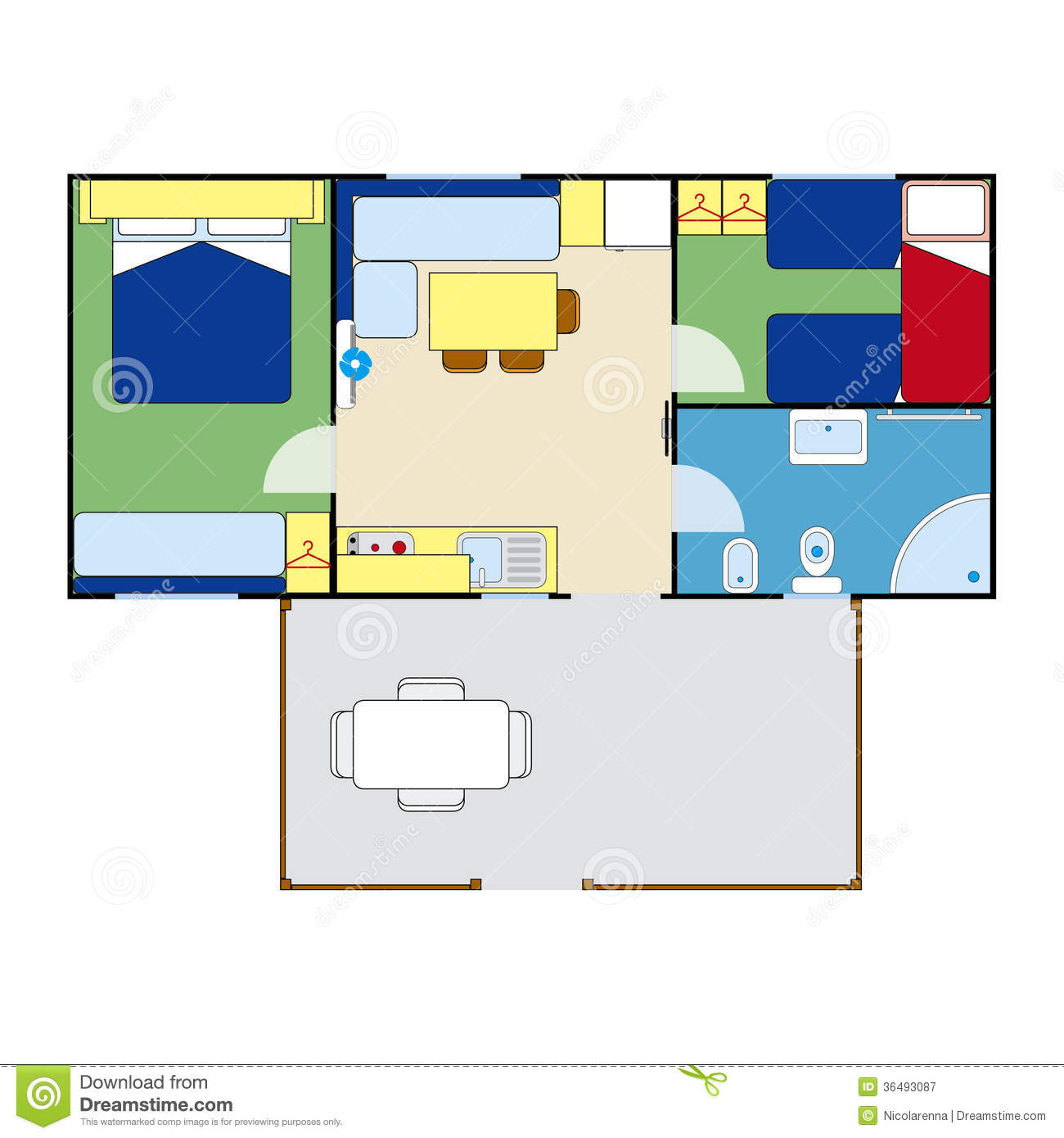 Apartment plan royalty free stock photography image for Apartment stock plans