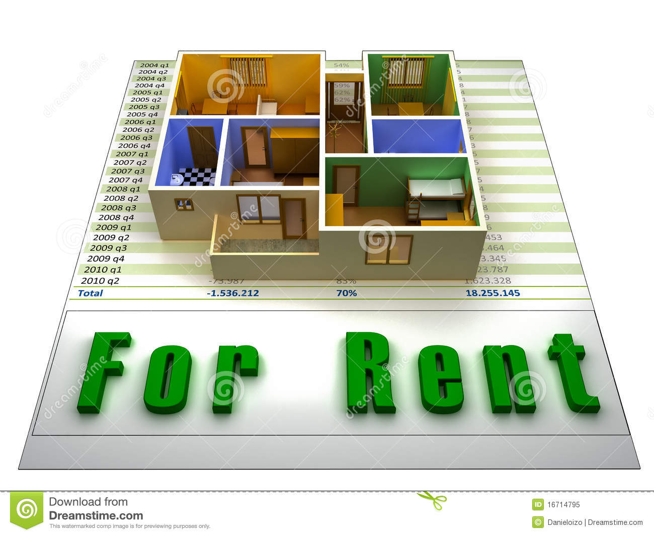 apartment for rent royalty free stock photo - image: 16714795