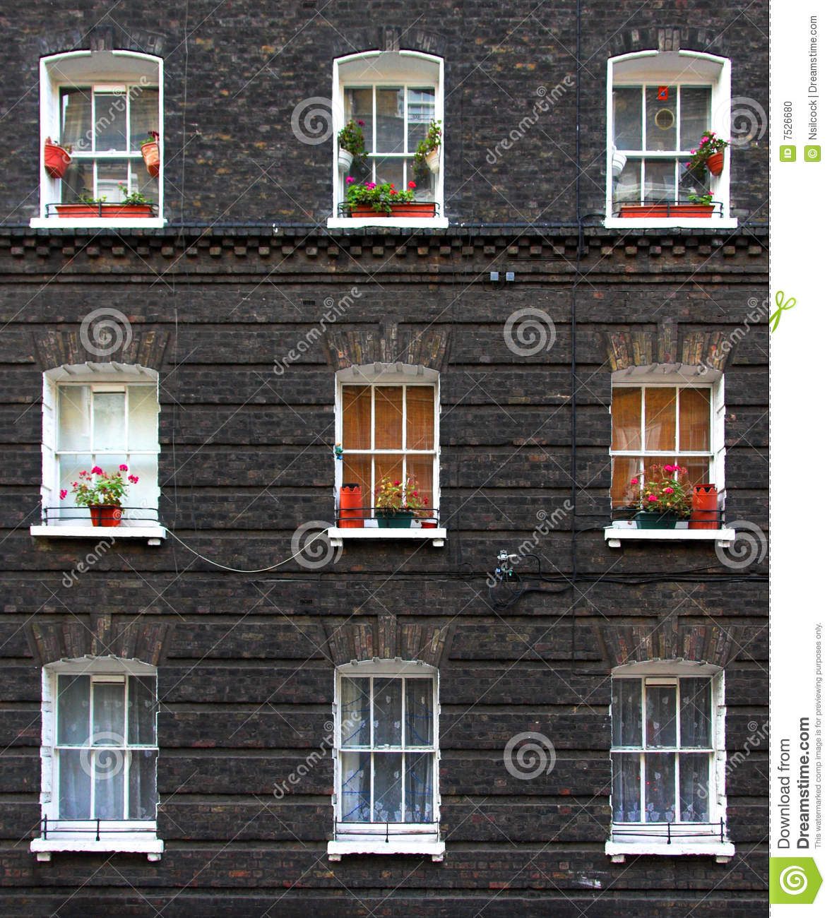 Apartment Windows Stock Photo Image 7526680