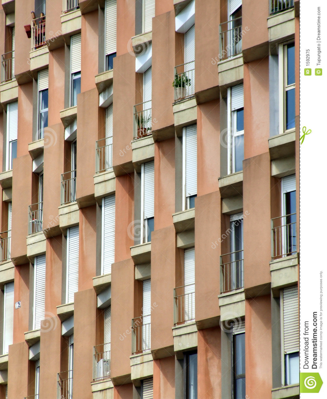 Barcelona Apartments: Apartments In Barcelona Stock Image. Image Of Spain