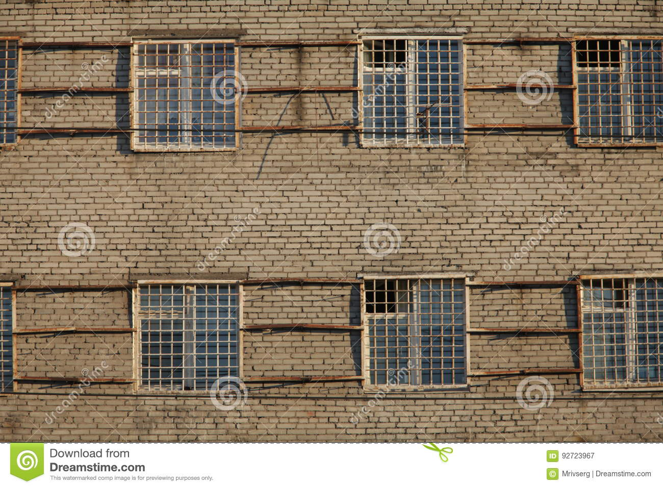 Apartments With Bars On Windows Stock Image - Image of background ...