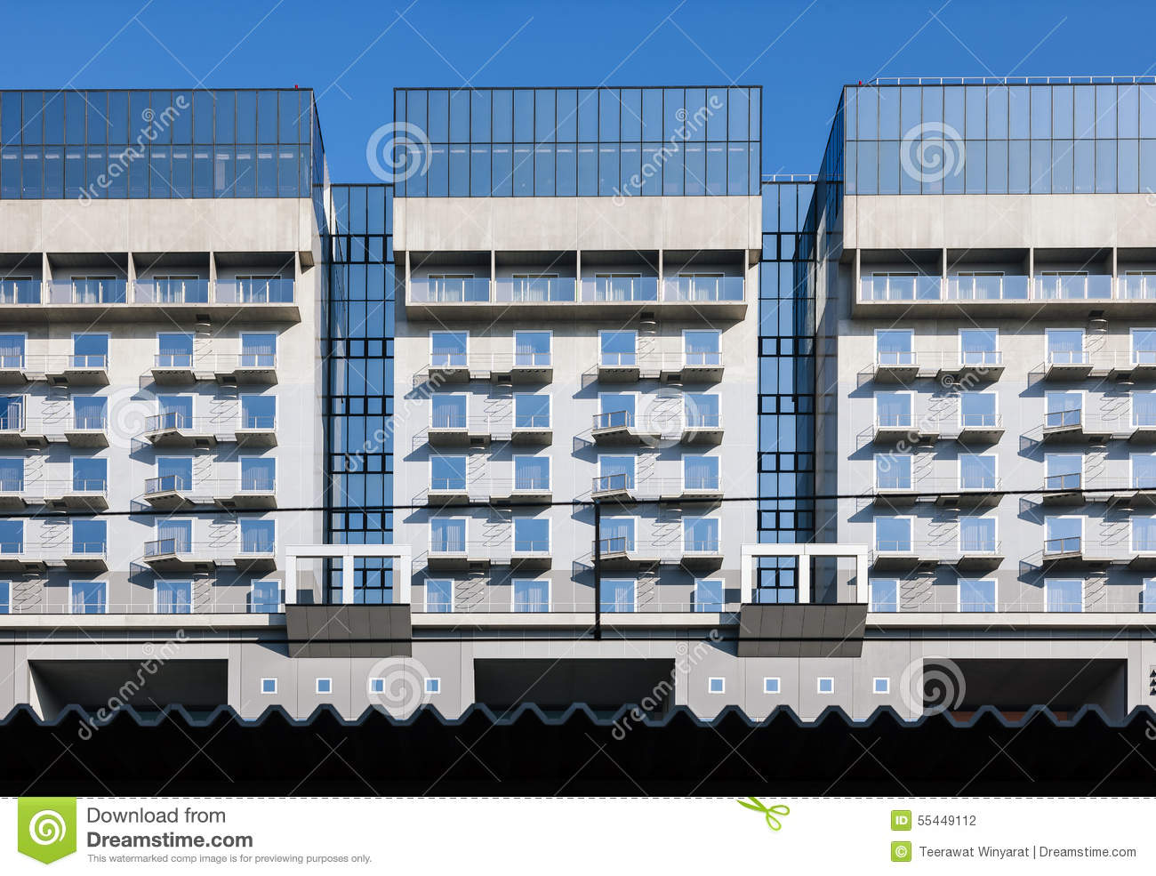Apartments Building Modern Style Architecture Stock Photo - Image ...