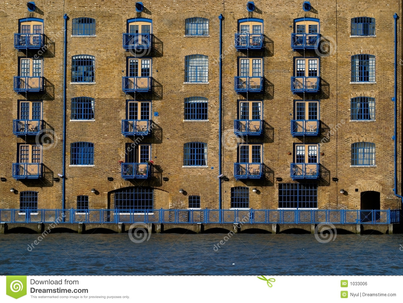 apartments old industrial design royalty free stock image