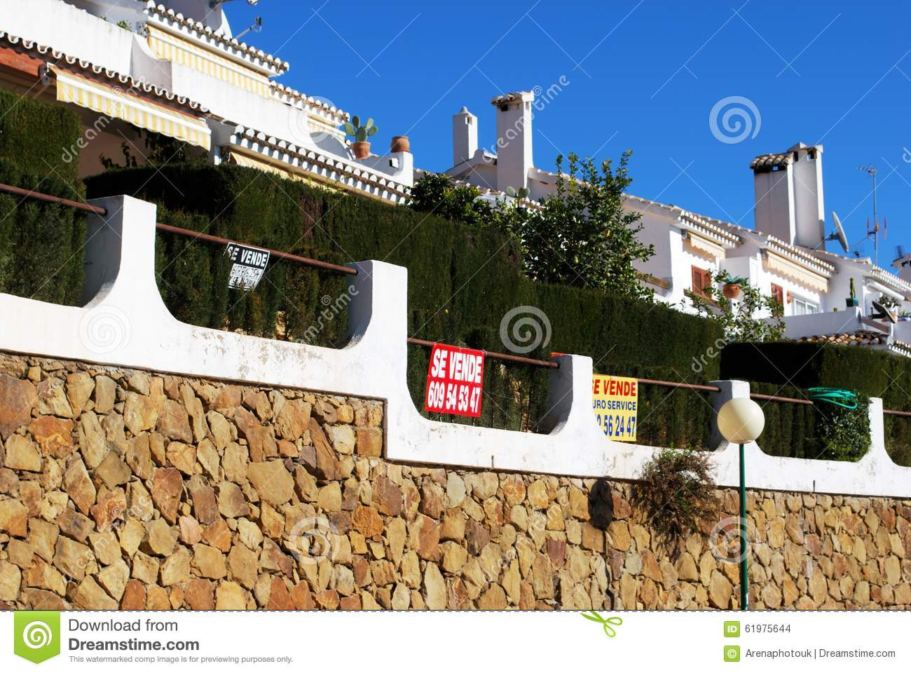 Apartments For Sale, Spain. Editorial Stock Image - Image ...