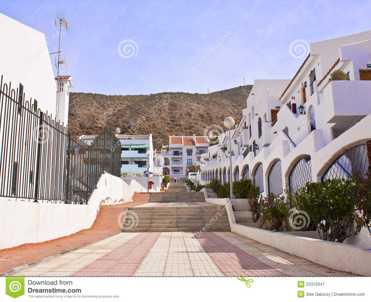 Apartments in Tenerife stock image. Image of angle ...