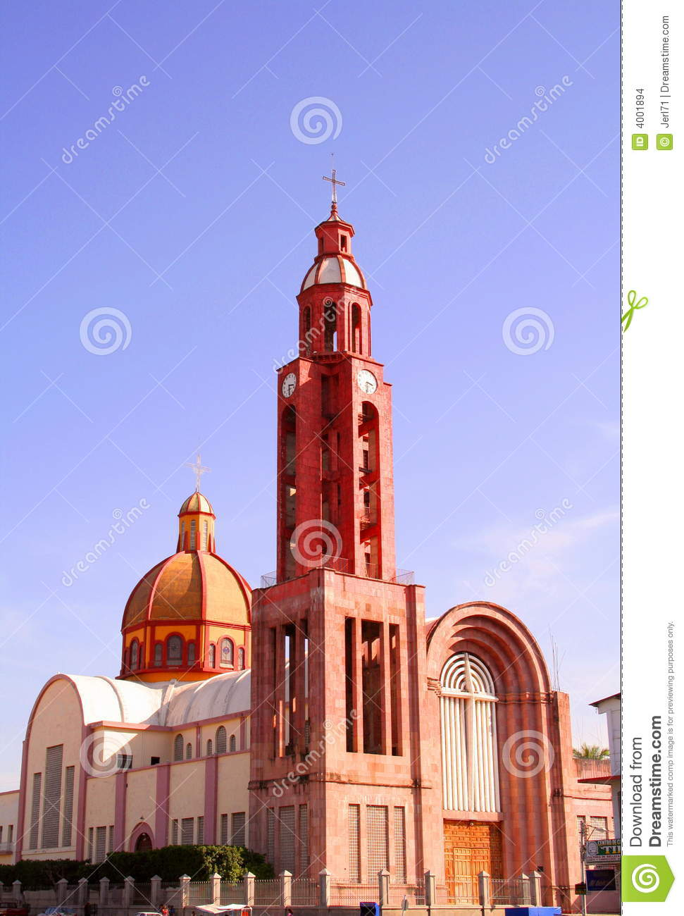 Apatzingan Cathedral Stock Photo Image Of Mexico