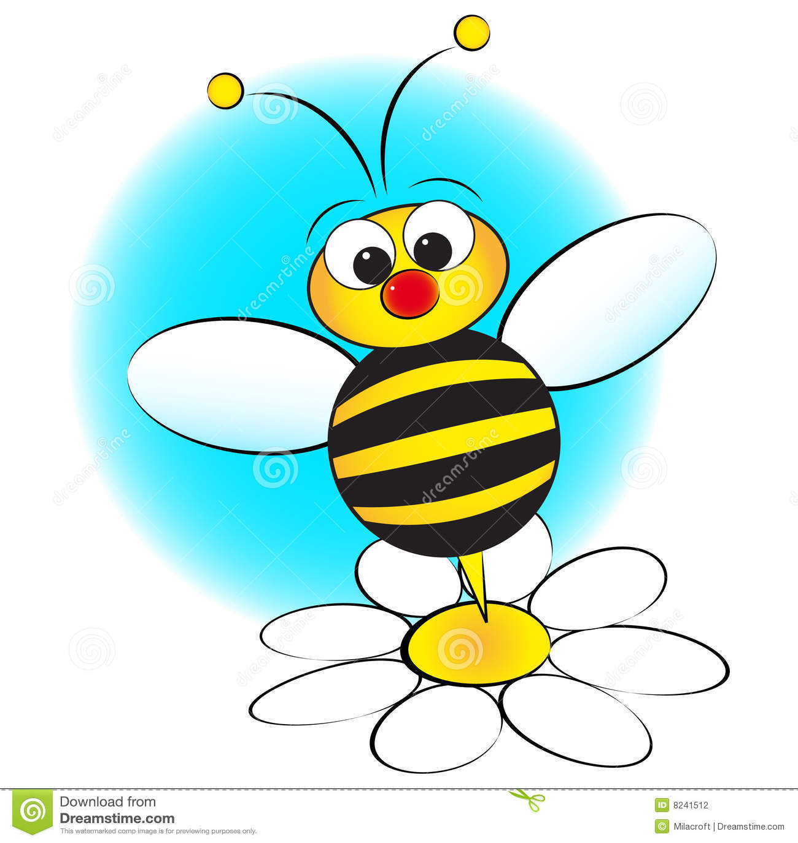 Ape e margherita illustrazione del bambino illustrazione for Immagini api per bambini
