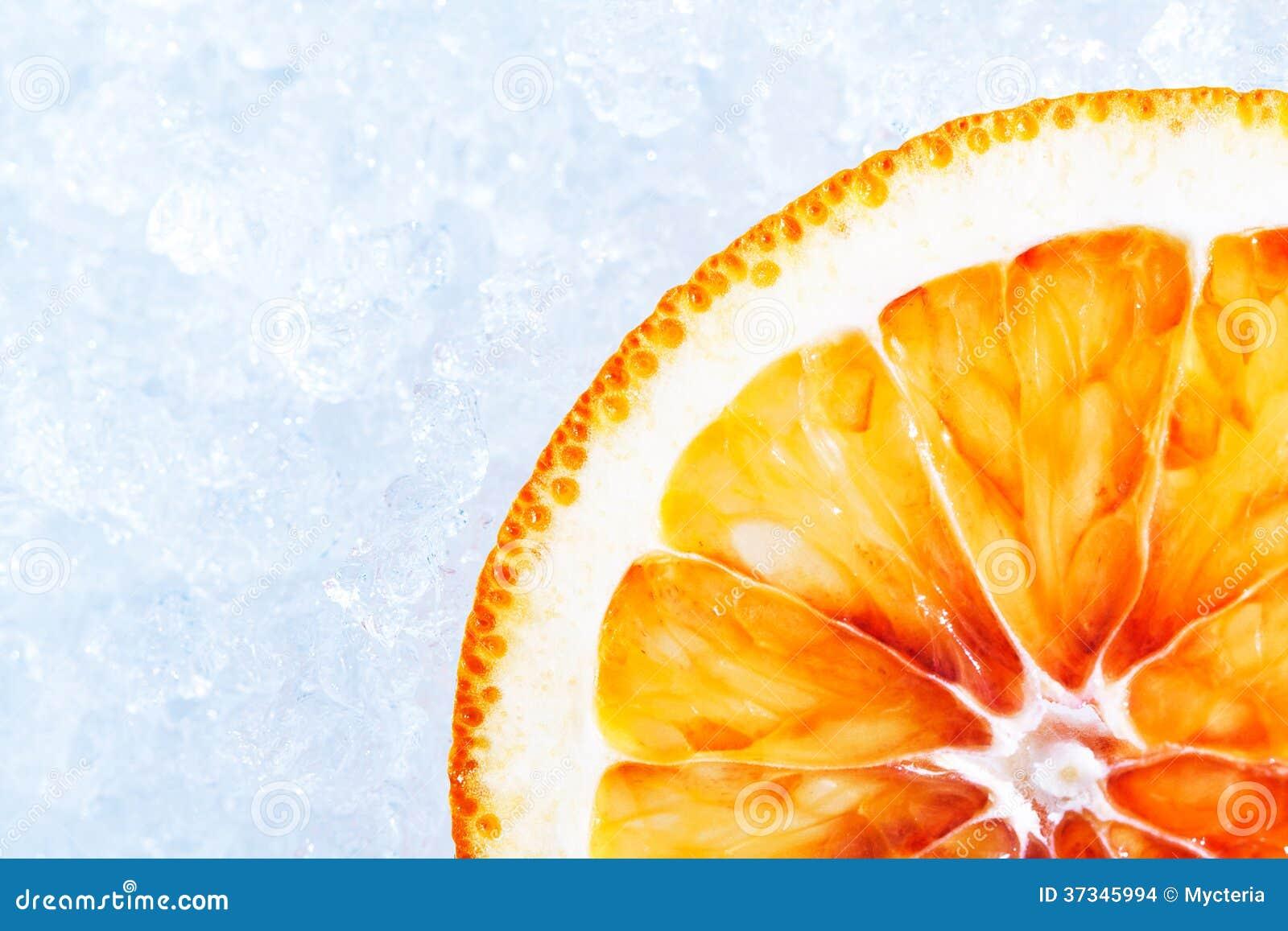 Apelsin på is