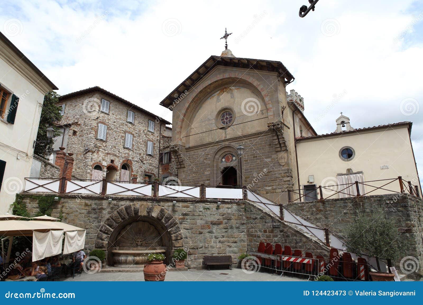 Aperçu d une place dans Radda dans le chianti, Toscane, Italie