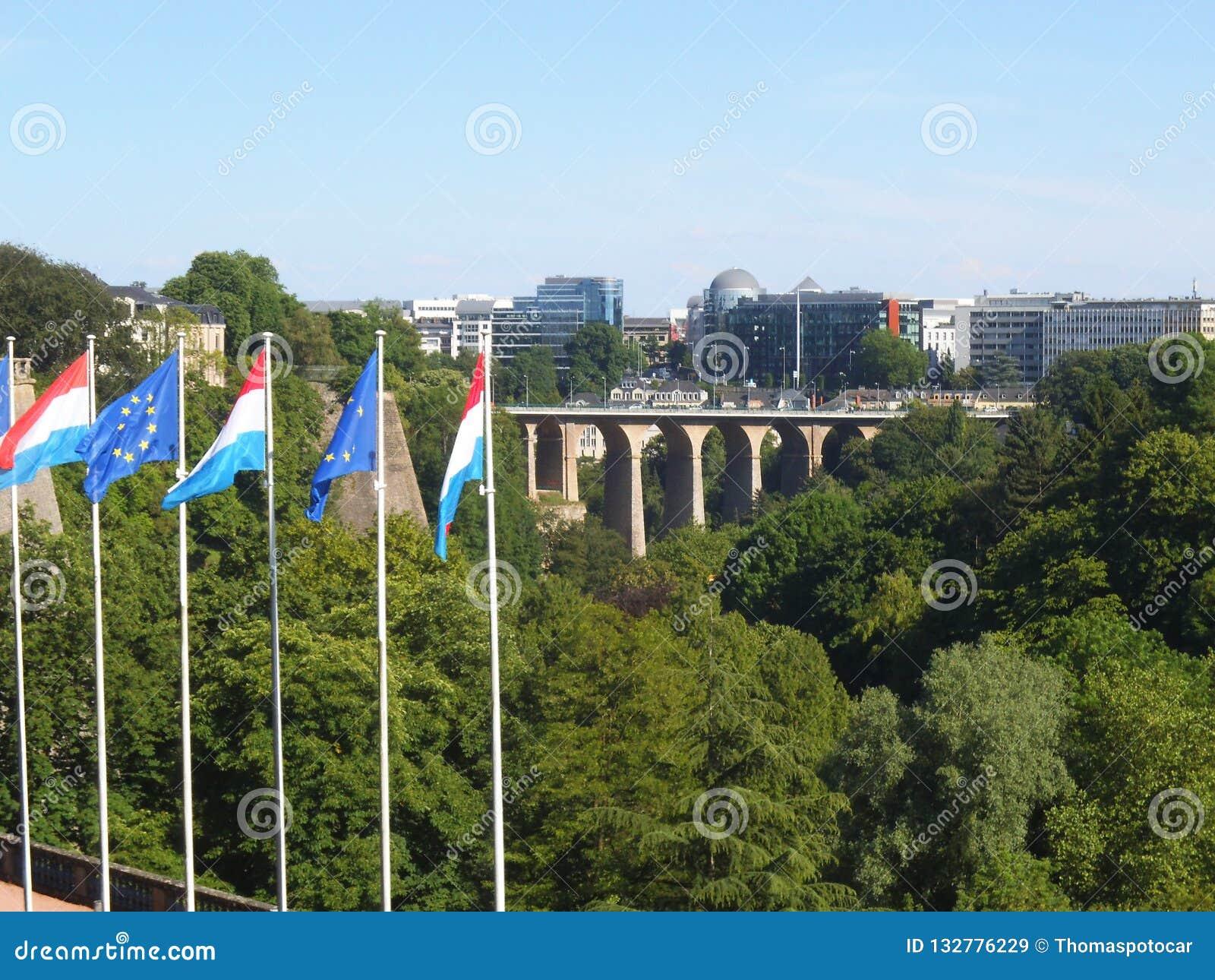 Aperçu de la ville de la colline au Luxembourg