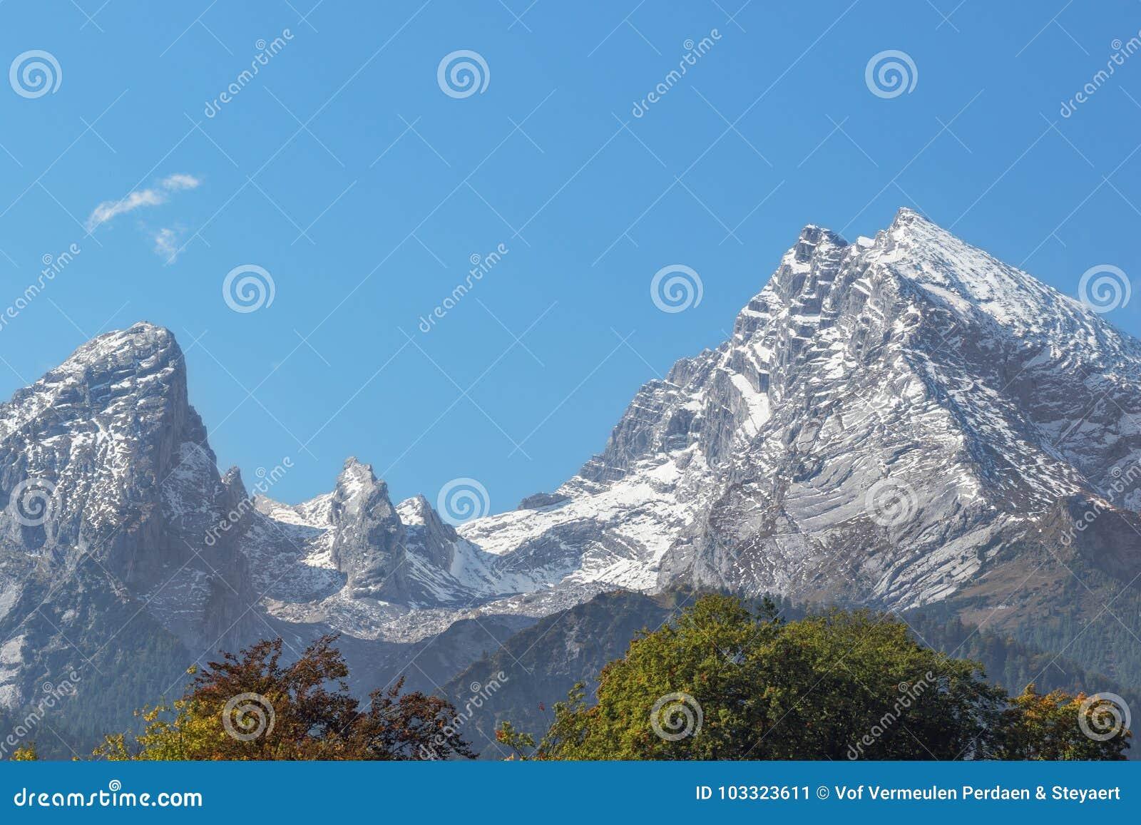 Aperçu du massif de Watzmann