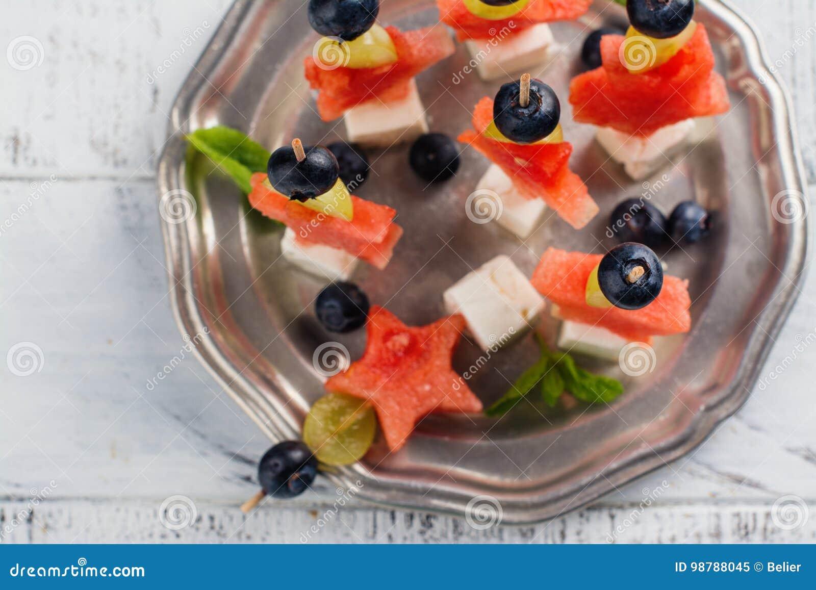 Aperitivo da melancia do verão