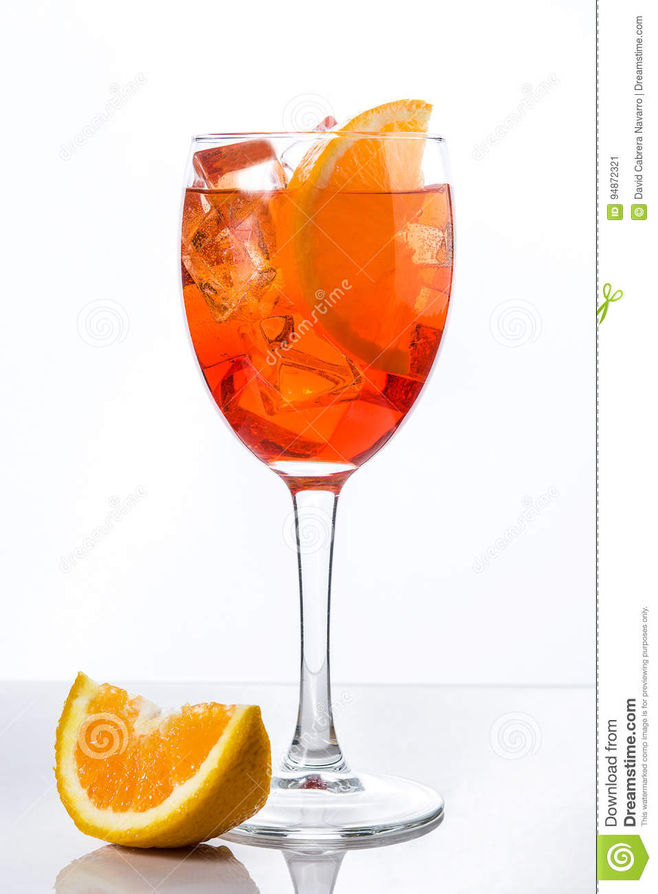 Aperol spritz cocktail in glass isolated stock image for Cocktail spritz