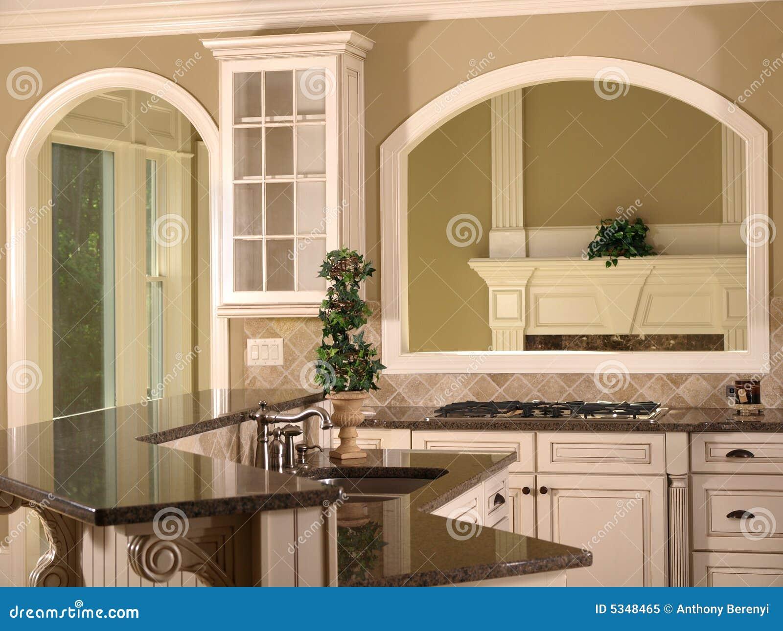 Apertura di lusso della cucina della casa di modello for Programma di disegno della casa libera