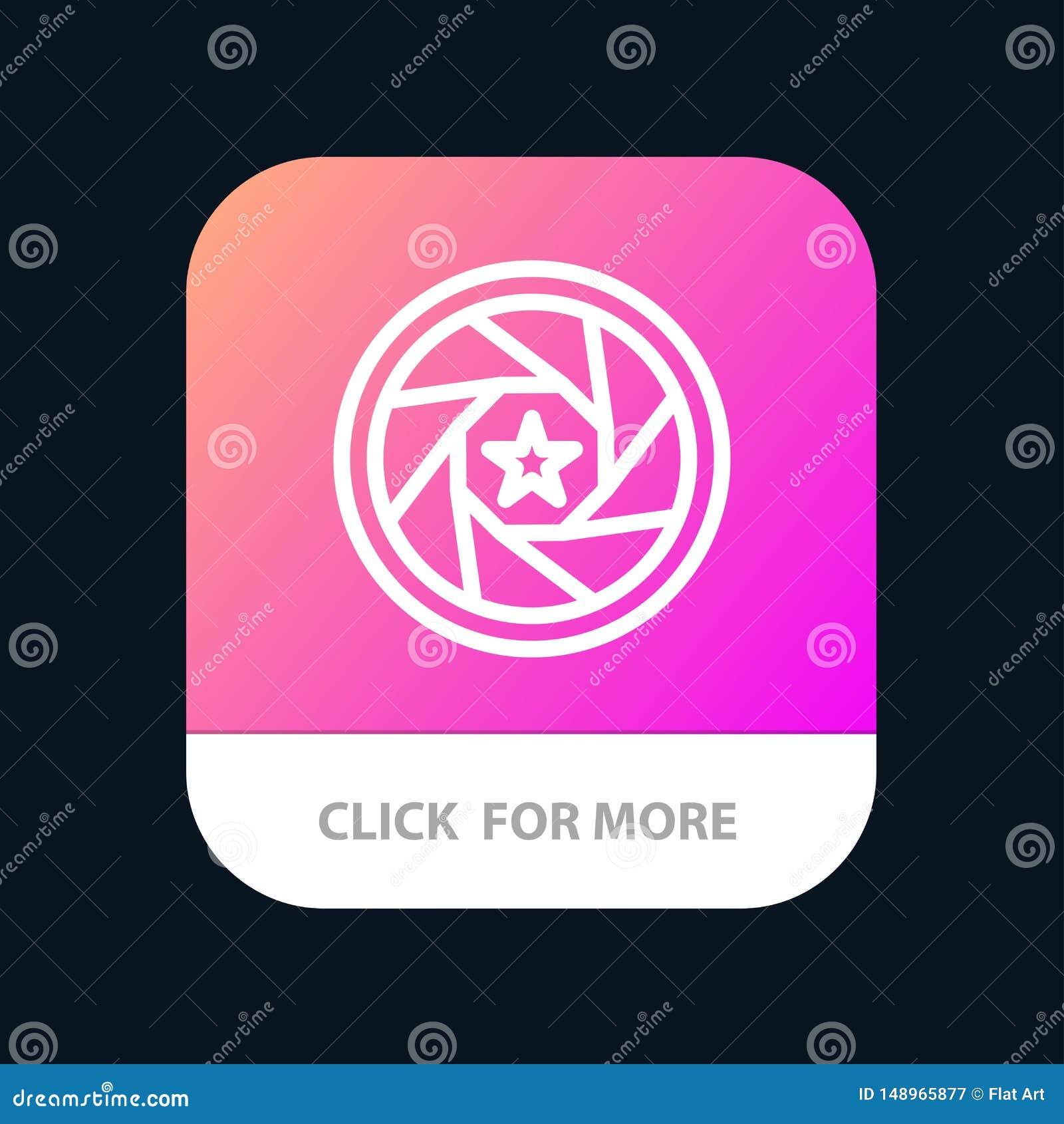 Apertura, film, logo, film, fotografii App Mobilny guzik Android i IOS linii wersja