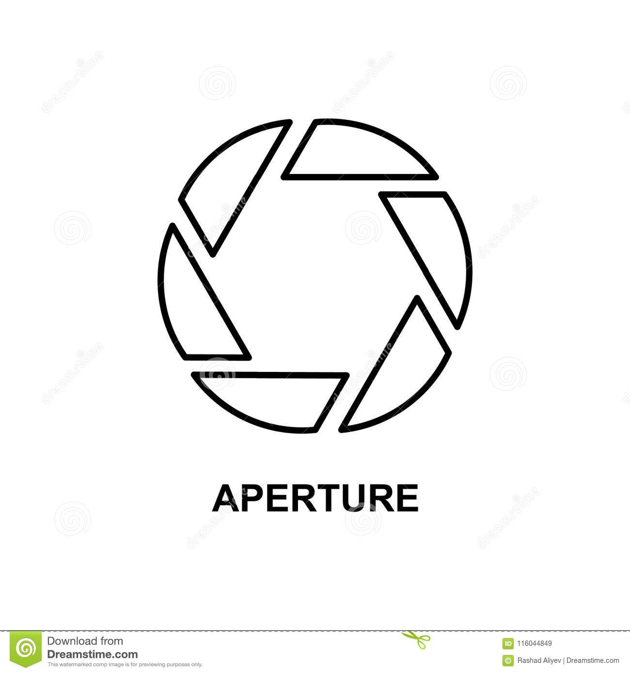 aperture icon. Element of cinema for mobile concept and web apps. Thin line aperture icon can be used for web and mobile. Premium