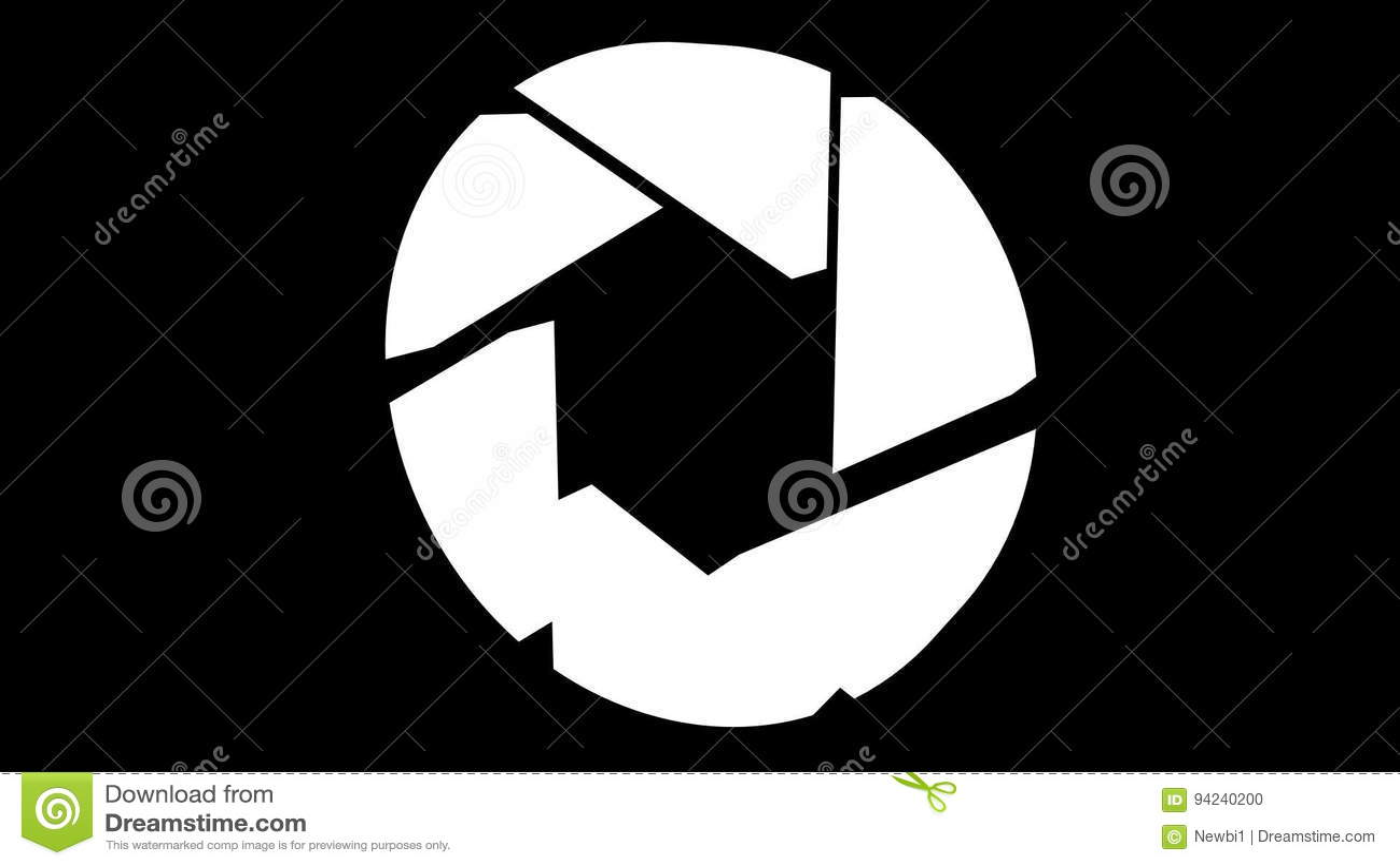 Aperture iris diaphragm logo rotate stock footage video of aperture iris diaphragm logo rotate stock footage video of business decoration 94240200 ccuart Gallery