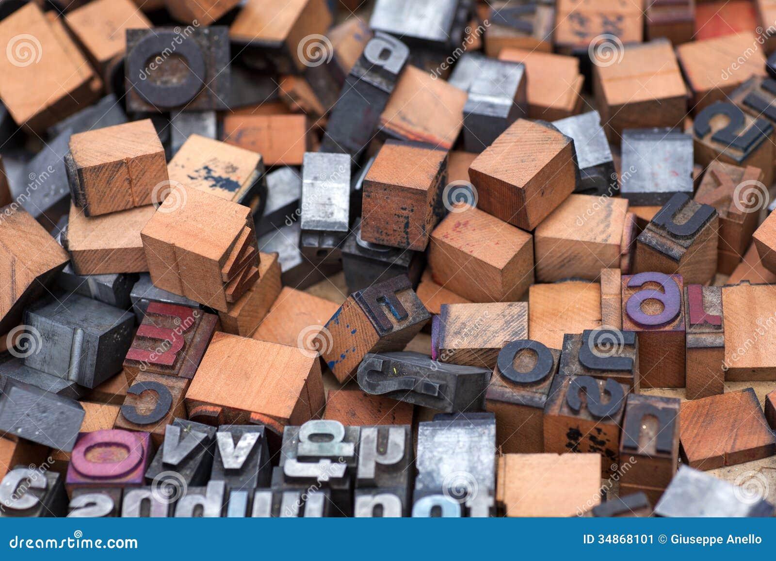 Aphabet-Stempel, Blockschrift